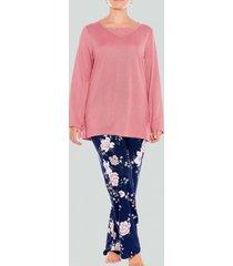 pijama jersey estampado floral baziani