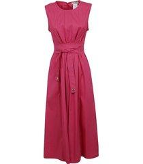 fuchsia cotton dress