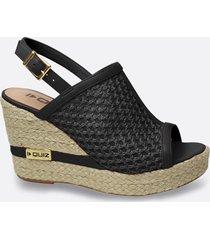 sandália feminina open boot plataforma salto alto quiz