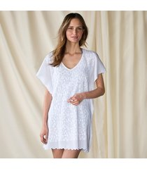 la cera white tunic with emb