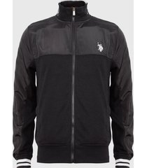 chaqueta us polo assn negro - calce regular