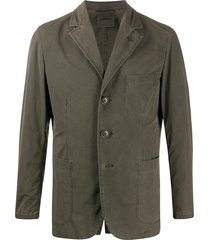 aspesi long sleeve patch pocket blazer - grey