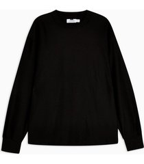 mens black twill sweatshirt