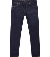 nudie jeans tight terry   rinse twill   112455-den