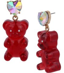 betsey johnson festive gummy bear drop earrings