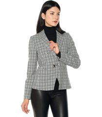 blazer gris-negro-blanco mng