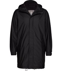 long quilted parka parka jas zwart rains