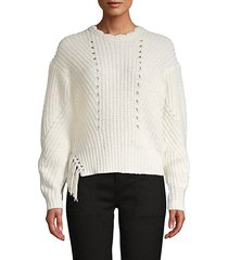 cotton-blend tassel sweater
