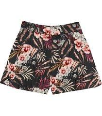 shorts estampado rovitex teen preto