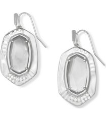 kendra scott pave & stone drop earrings