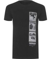 t-shirt masculina e-fabrics eco double pictures - preto
