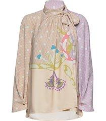 azalea, 690 nile blouse lange mouwen multi/patroon stine goya