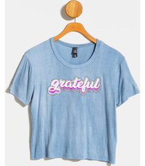grateful retro tee - blue