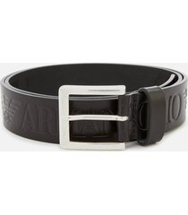 emporio armani men's embossed tongue belt - nero - eu 75/w30