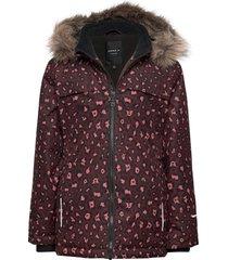 nkfsnow08 jacket leopard fo parka-jas paars name it
