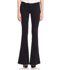 l'agence women's elysee flared jeans - black - size 24 (0)
