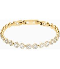 braccialetto angelic, bianco, placcato oro