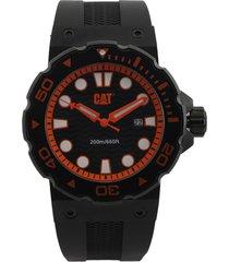 reloj negro-naranja caterpillar