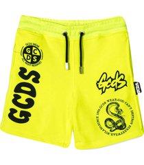 gcds mini yellow shorts