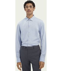 scotch & soda classic knitted slim-fit cotton shirt