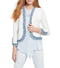 women's nic+zoe bright side open front crop jacket