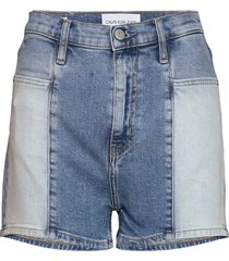 high rise short shorts denim shorts blå calvin klein jeans