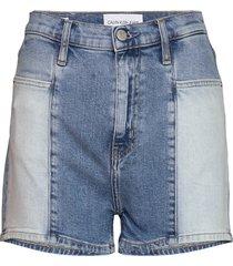 high rise short shorts denim shorts blå calvin klein jeans