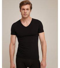camiseta interior manga corta negro-l