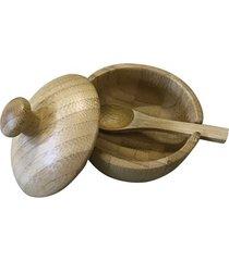 açucareiro lyor com colher bambu verona 8x7,5cm