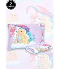 jogo de cama 2pçs solteiro lepper barbie reinos mágicos lilás
