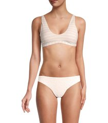 peixoto women's ellie striped bikini top - pin stripe - size l