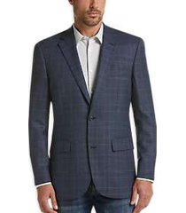 joseph & feiss gold modern fit sport coat blue plaid