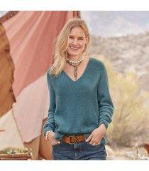 sundance catalog women's rowan cashmere sweater - petites in oatmeal petite 2xs