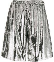 nº21 sequin-embellished shorts - metallic