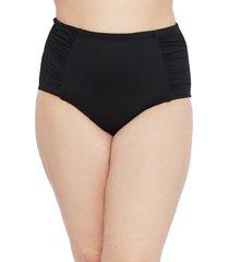 la blanca side shirred hipster swim bottoms, size 22w in black at nordstrom