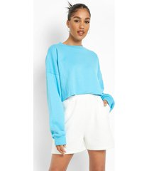 gerecyclede korte sweater, blue