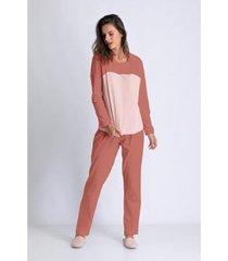 conjunto de pijama acuo longo levíssima feminino