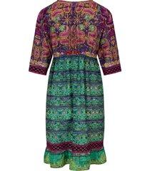 jurk met 3/4-mouwen van opera multicolour