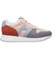 scarpe sneakers donna camoscio h383