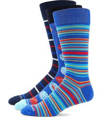 unsimply stitched men's 3-pack striped crew socks