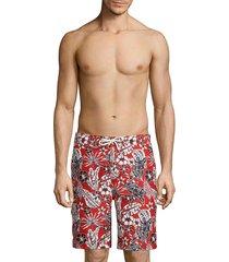 tommy bahama men's baja forte floral-print swim trunks - cobalt sea - size l