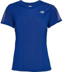 impact run ss t-shirts & tops short-sleeved blå new balance