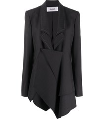 chalayan panel draped blazer - blue