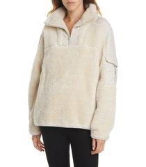 women's rag & bone logan recycled polyester fleece pullover