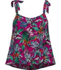 alarna cami tie top t-shirts & tops sleeveless rosa superdry