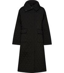 fifi coat gevoerde lange jas zwart birgitte herskind