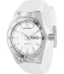 reloj  technomarine blanco modelo tm-11004e para mujer, colección