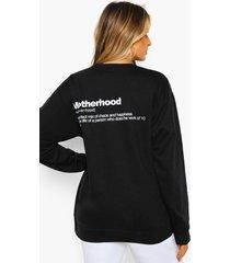 zwangerschap 'motherhood' sweater, black