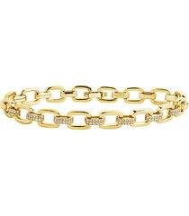 cubic zirconia link bracelet