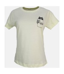t-shirt bolso meow amarelo